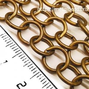 Цепочка 0525 (oxidized brass)