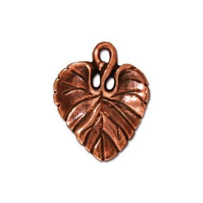 """Подвеска TierraCast 94-2011-18 (antique copper) """"Violet Leaf """""""
