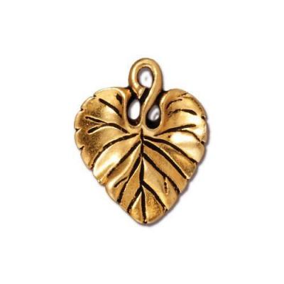 "Подвеска TierraCast 94-2011-26 (antique gold) ""Violet Leaf """