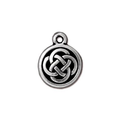 "Подвеска TierraCast 94-2033-12 (antique silver) ""Celtic Round"""