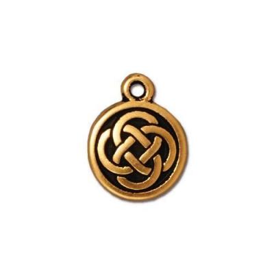 "Подвеска TierraCast 94-2033-26 (antique gold) ""Celtic Round"""