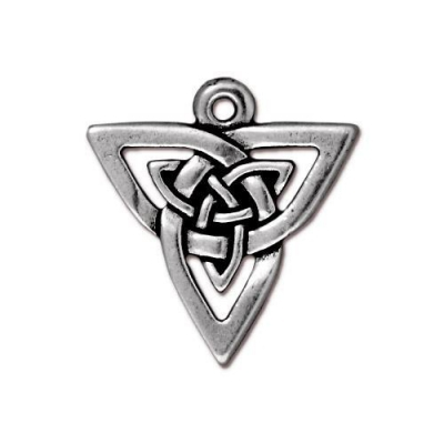 "Подвеска TierraCast 94-7506-12 (antique silver) ""Open Triangle"""