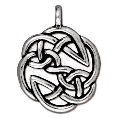 "Подвеска TierraCast 94-7508-12 (antique silver) ""Open Knot"""