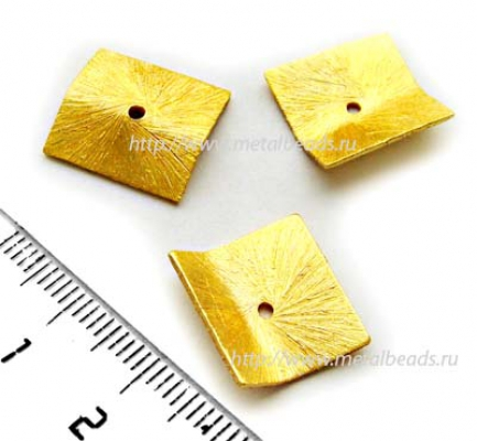 Бусина металлическая  INDIA/BG/0086 (bright gold)