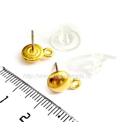Пуссеты TierraCast с заглушками 94-1000-25 (bright gold)