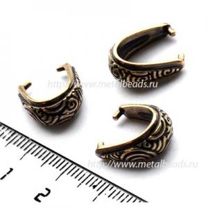 "Бейл зажимной TierraCast 94-5784-27 (antique brass)  ""SPIRAL"""
