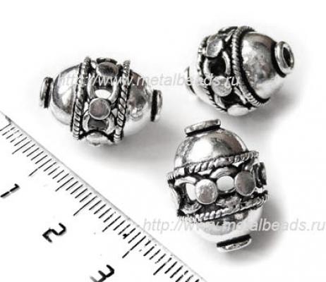 !УЦЕНКА! Бусина металлическая INDIA/AS/0009 (antique silver)