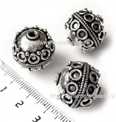 !УЦЕНКА! Бусина металлическая INDIA/AS/0076 (antique silver)