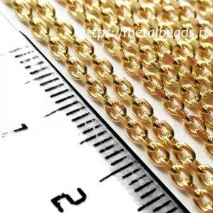Цепочка c алмазной гранью позолоченная DIAMONDCUT/BG/0202 (bright gold)