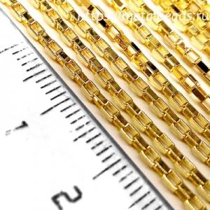 Цепочка венецианского плетения позолоченная VENETIAN/BG/0204 (bright gold)