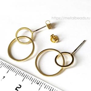 Пуссеты BG/0499 (bright gold)