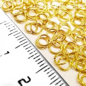 Колечки соединительные одинарные (4,2мм/24ga) bright gold (упаковка 10шт.)