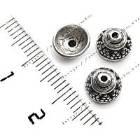 "Чашечка бусины TierraCast 94-5568-12 (antique silver) ""8mm BALI"""