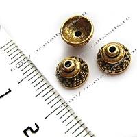 """Чашечка бусины TierraCast 94-5568-26 (antique gold) """"8mm BALI"""""""
