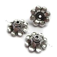 "Чашечка бусины TierraCast 94-5589-12 (antique silver) ""11mm SCALLOPED"""