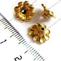 "Чашечка бусины TierraCast 94-5589-26 (antique gold) ""11mm SCALLOPED"""