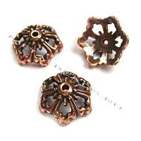 """Чашечка бусины TierraCast 94-5591-18 (antique copper) """"12mm OPEN POPPY"""""""