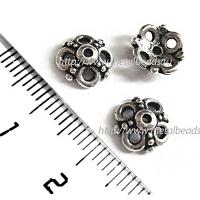 "Чашечка бусины TierraCast 94-5605-12 (antique silver) ""9mm CLOVER"""