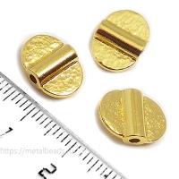 "Бусина металлическая TierraCast 94-5819-25 (bright gold) ""DOUBLE HAMMERED"""