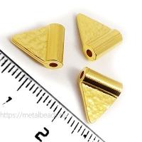 "Бусина металлическая TierraCast 94-5820-25 (bright gold) ""HAMMERED FLAG"""