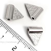 "Бусина металлическая TierraCast 94-5820-61 (bright rhodium) ""HAMMERED FLAG"""