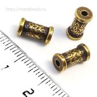 """Бусина металлическая TierraCast 94-5822-27 (antique brass) """"10mm HAMMERED"""""""