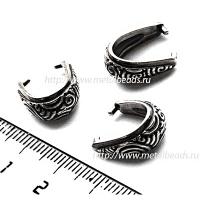 "Бейл зажимной TierraCast 94-5784-12 (antique silver)  ""SPIRAL"""