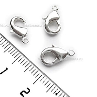 Замок-карабин TierraCast 01-0110-11 (bright silver) 12 x 7mm