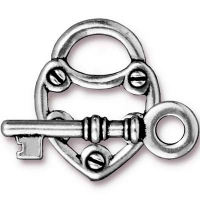 "Замок-тогл TierraCast 94-6170-12 (antique silver) ""LOCK&KEY"""