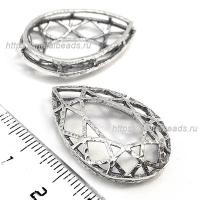 Коннектор 7363 объемный (antique silver)
