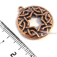 Коннектор 8081 двусторонний (antique copper)
