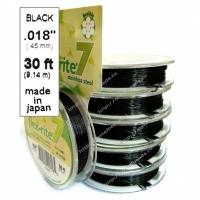 Ювелирный тросик 0,45mm BLACK (7 нитей)