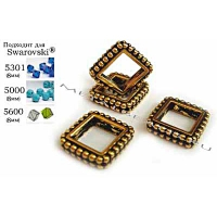 "Рамка бусины TierraCast 94-5659-26 (antique gold) ""8mm DIAMOND"""