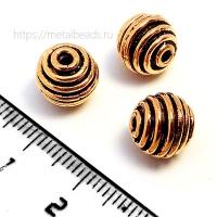 Бусина металлическая INDIA/AC/6508 (antique copper)