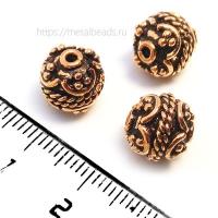 Бусина металлическая INDIA/AC/8401 (antique copper)