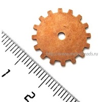 "Штамп TrinityBrassCo VС/0855 (vintage copper) ""19mm GEAR"""