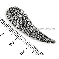 "Штамп без отверстий TrinityBrassCo VS/0862 (vintage silver) ""DIVINE ANGEL WING RIGHT"""